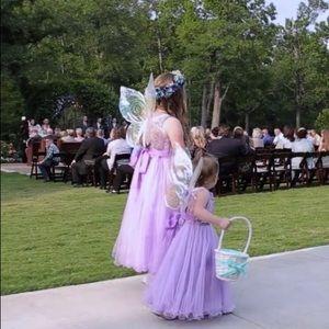 flower girl dress purple/lavender